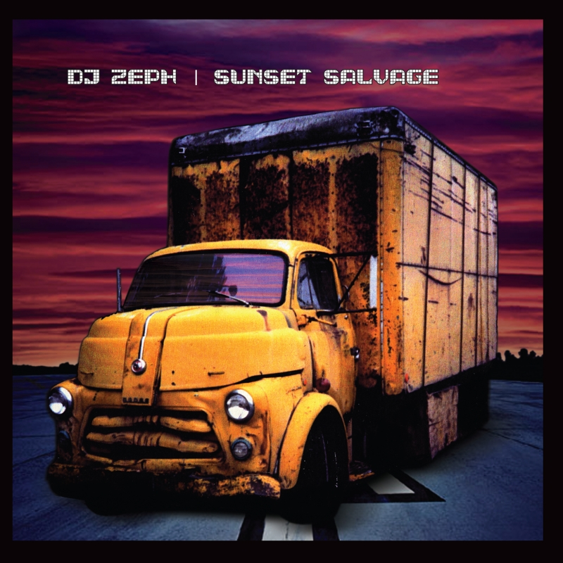 """The Cover of the Wide Hive release """"Sunset Salvage,"""" by DJ Zeph."""