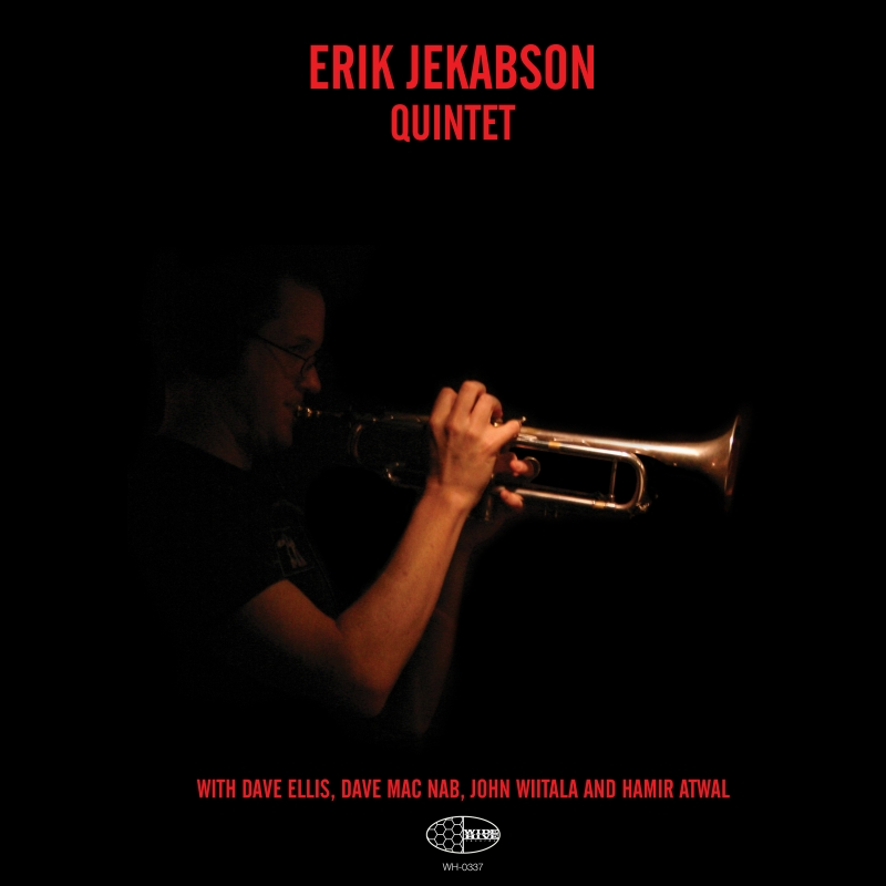 """A picture of the album cover for the """"Erik Jekabson Quintet."""""""