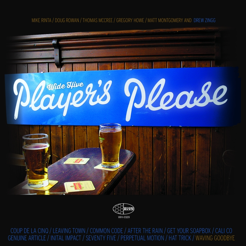 A photo of the cover of the Wide Hive Release, Players Please, by the Wide Hive Players.