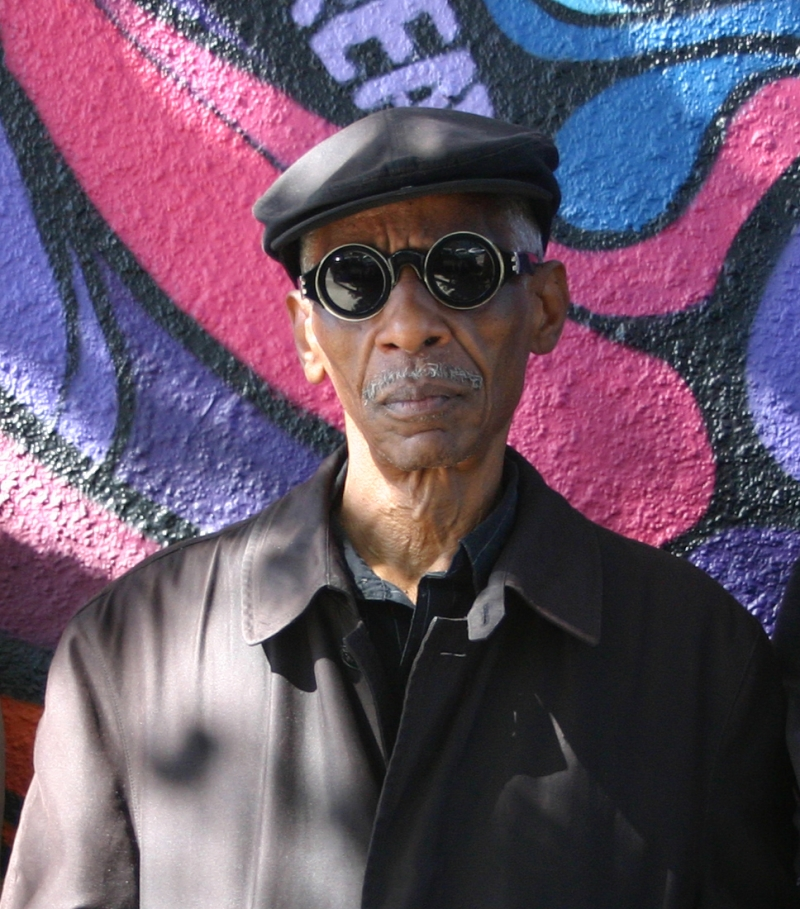 Roscoe Mitchell wearing goggle-inspired sun glasses.
