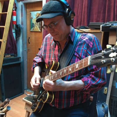A photo of Drew Zingg at the Wide Hive Studio.