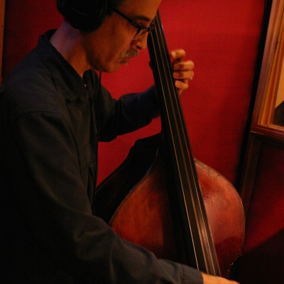 A picture of John Wiitale on stand up bass.