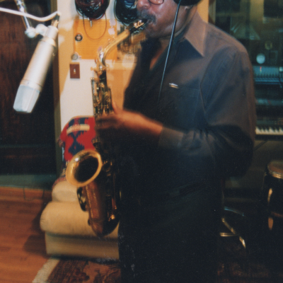 Sonny Fortune playing the saxophone.