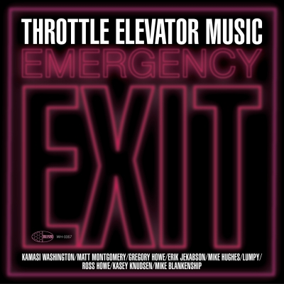 """A picture of the cover for Throttle Elevator Music's """"Emergency Exit."""""""