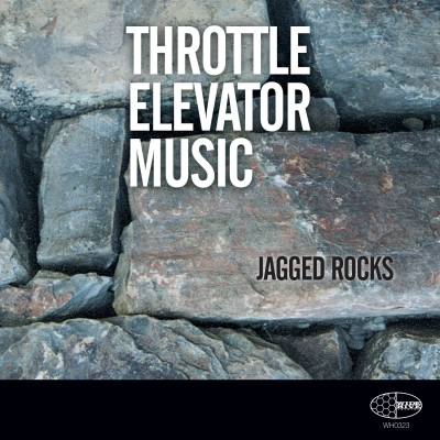 A photo of the cover of the Wide Hive release, Throttle Elevator Music - Jagged Rocks